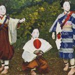Folding fan(扇子) – Free image Vintage postcard