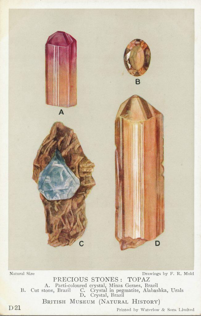 トパーズの鉱石標本(Ore specimen of a topaz)