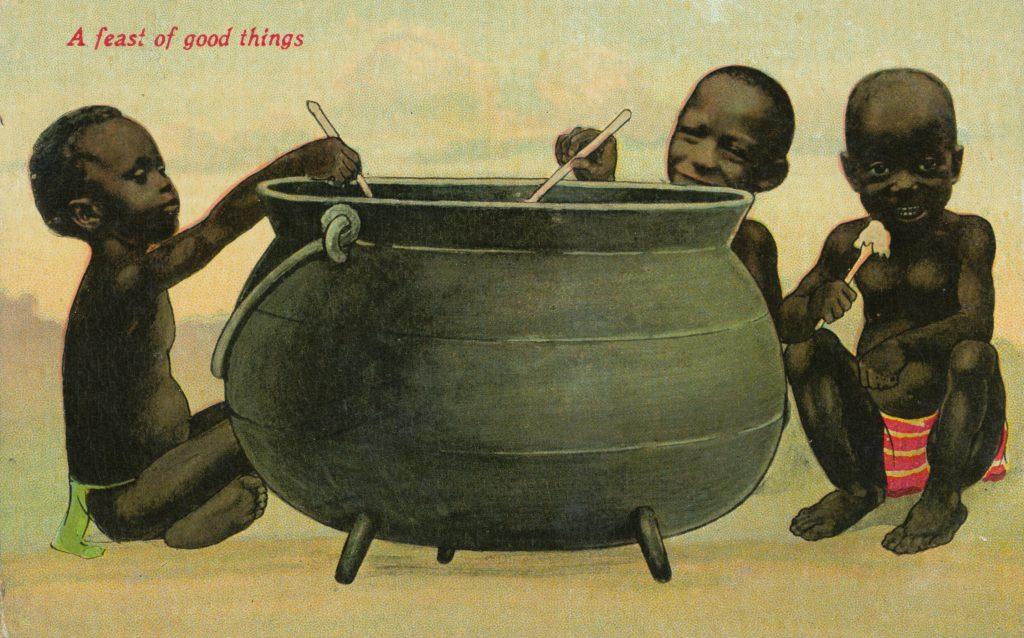 大きな鍋と子どもたち(Big pot and children)
