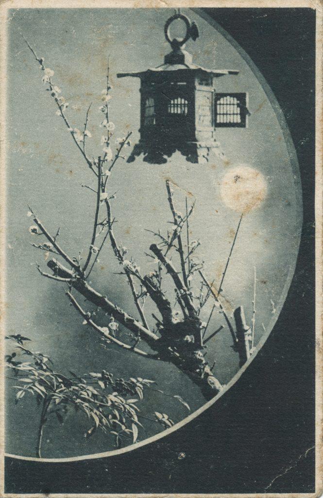 梅と吊り灯籠(Plum and lantern)
