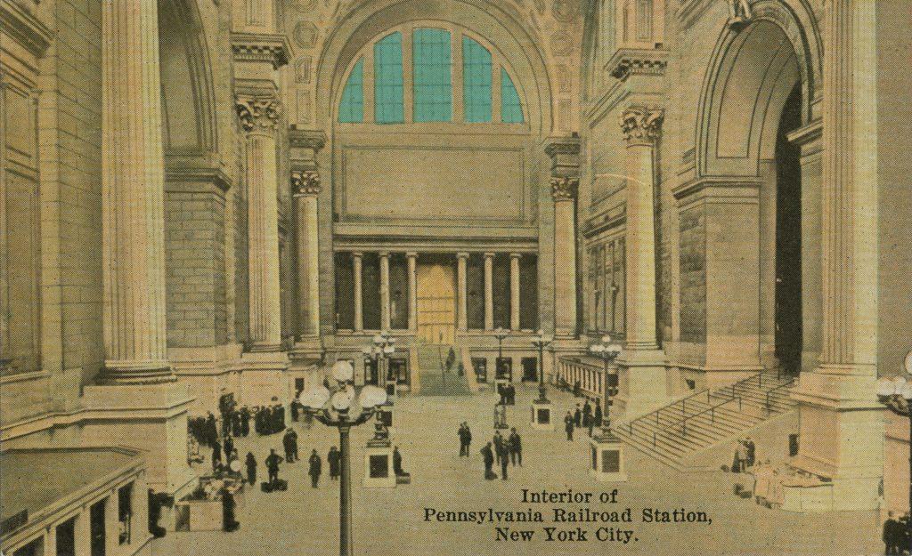 ペンシルバニア鉄道の駅構内(Pennsylvania railroad station)