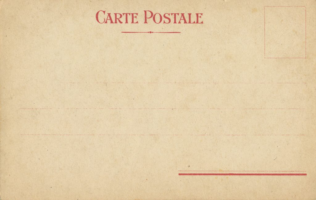 カードの宛名面(front of a postcard)