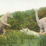 Dinosaurs(恐竜) – Free image Vintage postcard