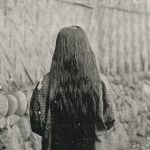 Very long hair(長い髪の少女) – Free image Vintage postcard