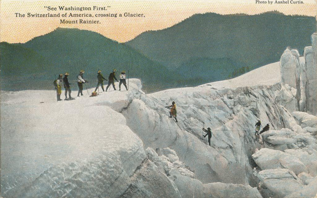 レーニア山の氷河(Glacier in Mt.Rainier)