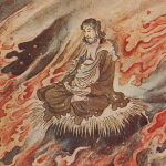 The Buddha and dragon(釈迦と毒龍) – Free image Vintage postcard
