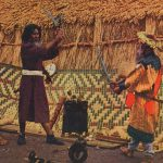 Duel(決闘) – Free image Vintage postcard