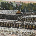 Pigeon farm(養鳩場) – Free image Vintage postcard