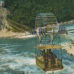 Cable car on Niagara river(ケーブルカー) – Free image Vintage postcard