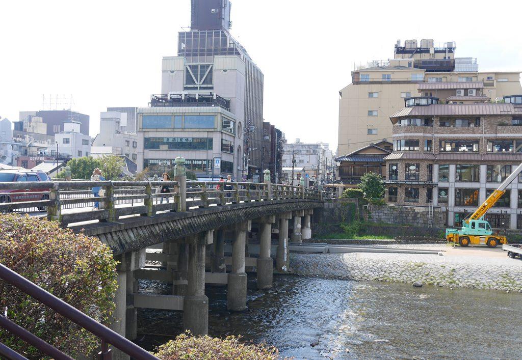 現在の三条大橋(The present Sanjo Ohashi)