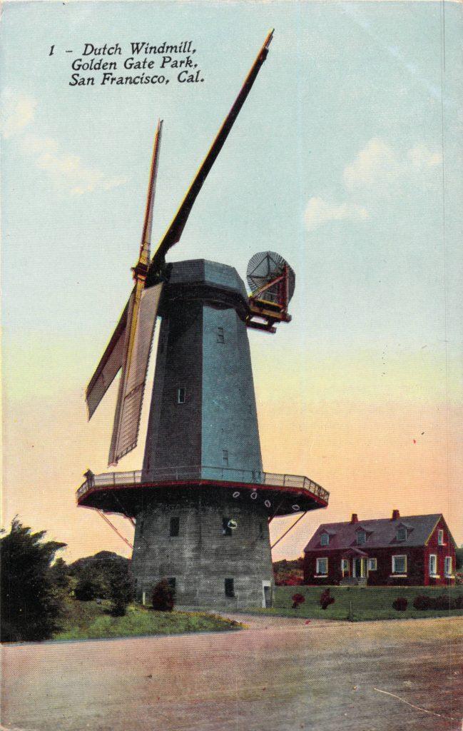 ゴールデンゲートパークにある風車(Windmill in Golden Gate Park)