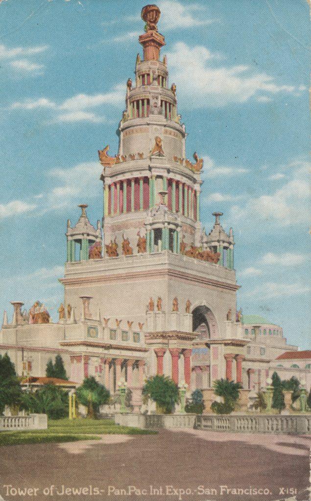 サンフランシスコ万博の宝石の塔(The Tower of a jewel of San Francisco expo)