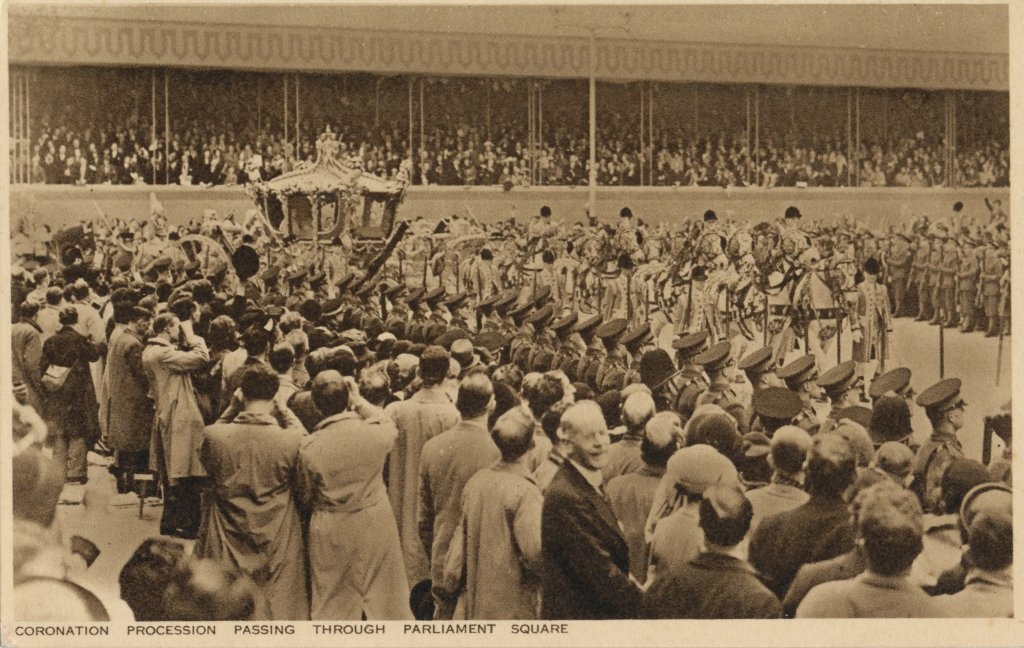 ジョージ6世かエリザベス2世の戴冠式の行列(Coronation procession of King George VI or Queen Elizabeth II)